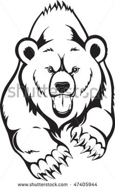 236x389 How To Draw Grizzly Bears