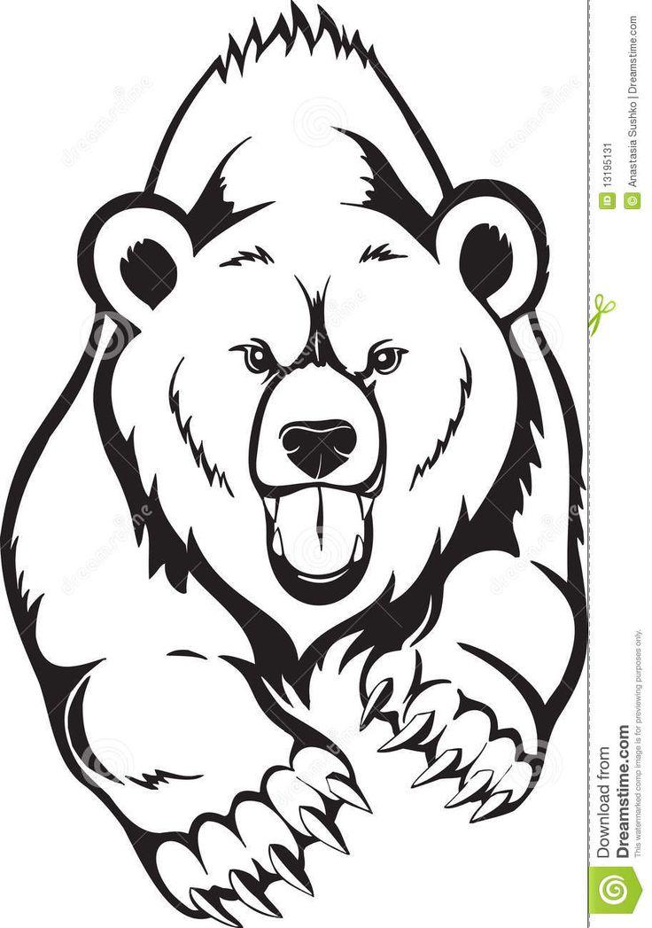 736x1047 Grizzly Bear Head Outline Grizzly Bear Head School Art