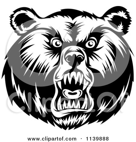 450x470 Bear Face Clipart Black And White