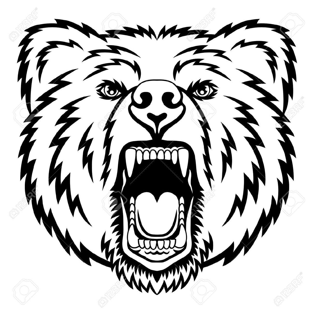 Grizzly Bear Head Drawing at GetDrawings.com | Free for personal use ...