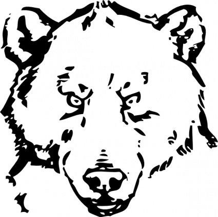 425x424 Bear Head, Vector