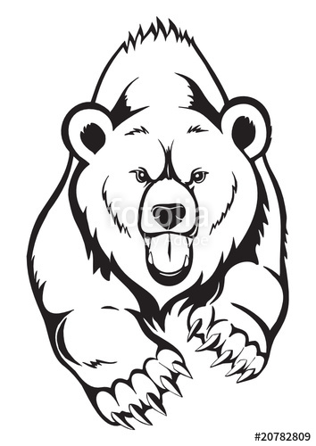 354x500 Brown Bear Grizzly. Vector Stock Image And Royalty Free Vector