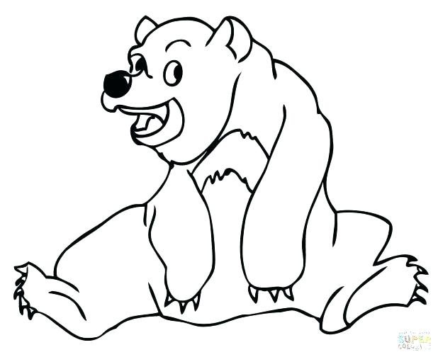 618x504 Grizzly Bear Coloring Pages 39 Packed With Bear Coloring Pages