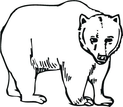 416x360 Grizzly Bear Coloring Pages As Inspiring Detail Printable Grizzly