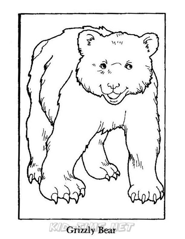 612x792 Grizzly Bear Coloring Pages 006.jpg Kids Time Free Coloring Book