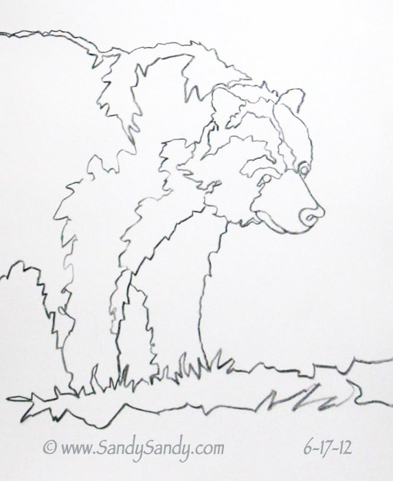 572x700 Drawing Everyday Bears And Crows In Pencil And Watercolor
