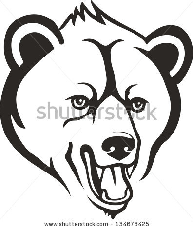 396x470 Drawn Grizzly Bear Vicious Bear
