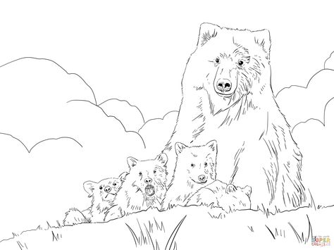 474x355 How To Draw A Detailed Grizzly Bear Step By Step