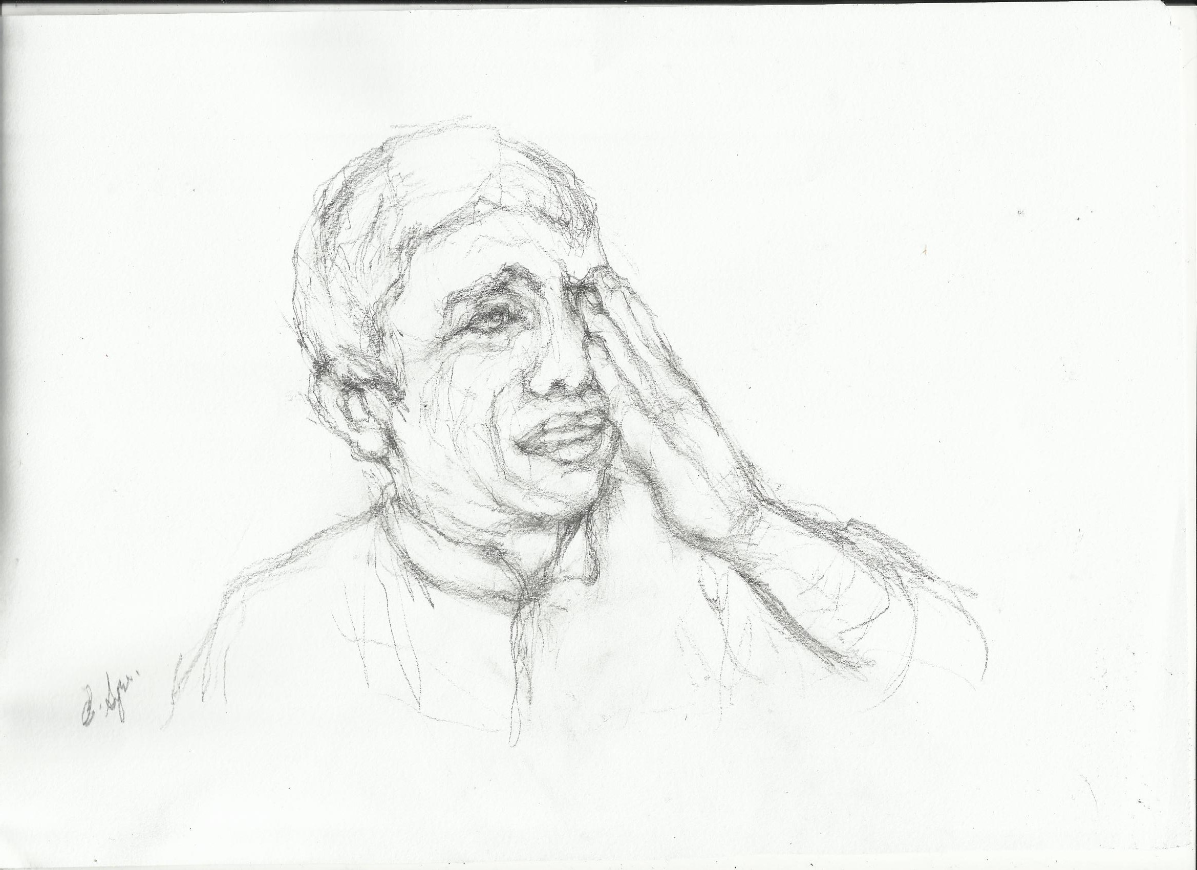 2338x1700 Bear Face Sketch