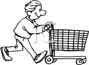 300x220 Boy Pushing A Shopping Cart