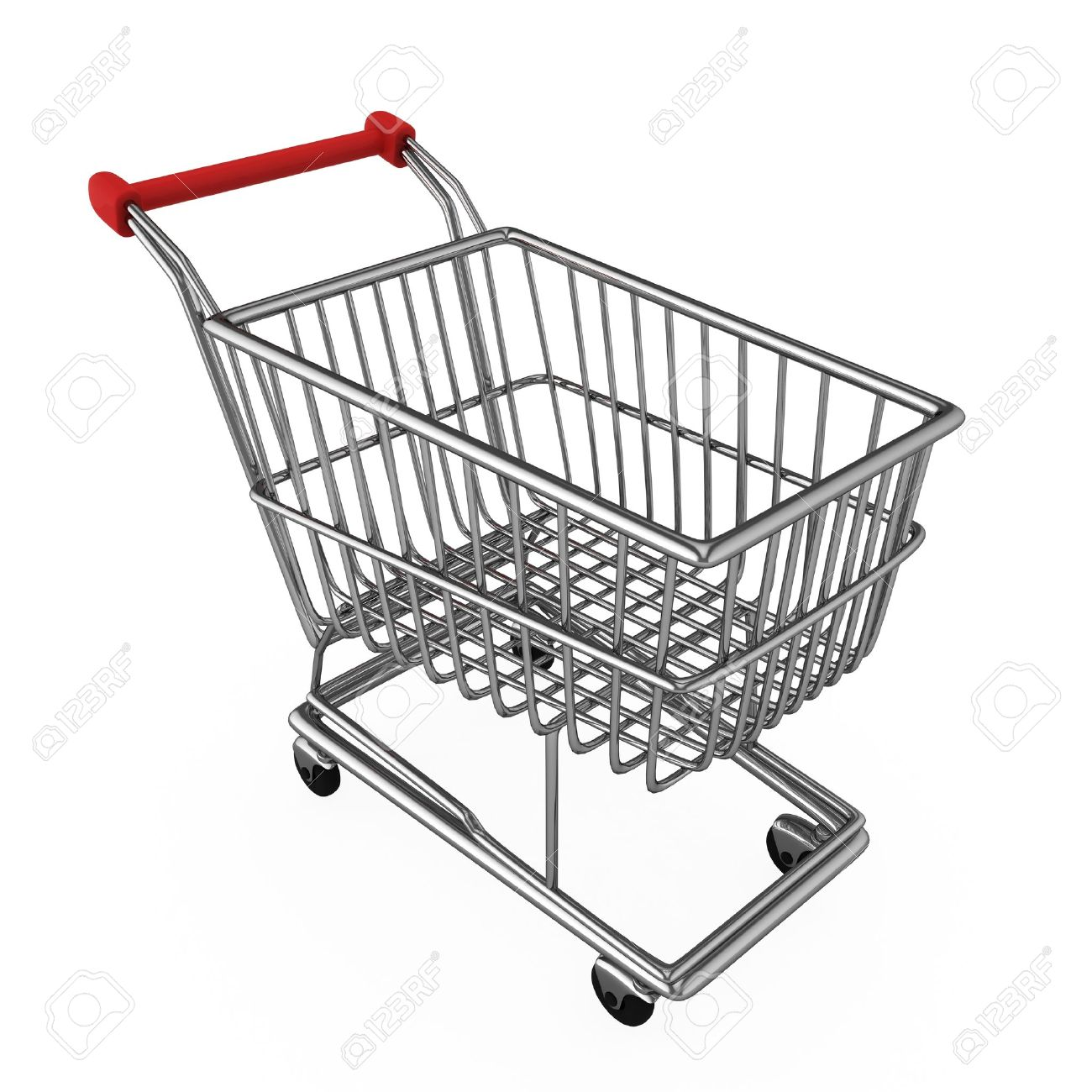 1300x1300 3d Illustration Of A Shopping Cart Stock Photo, Picture
