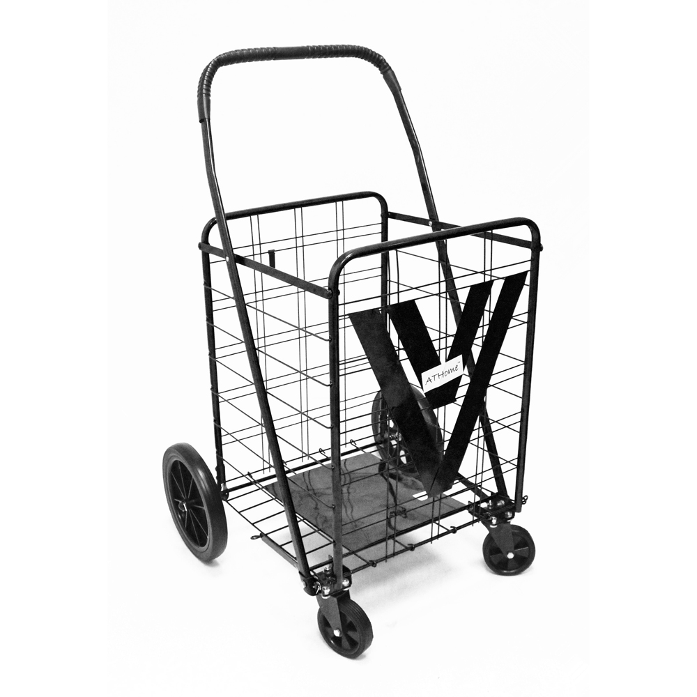 1000x1000 Athome Heavy Duty Shopping Cart With Swivel Wheels