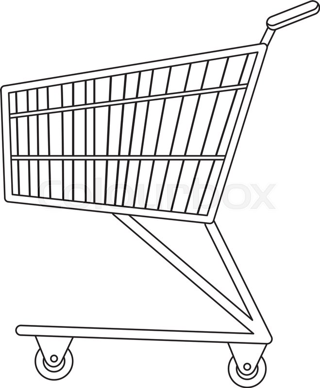 659x800 Shopping Carts Icon, Line, Sketch, Doodle Style. Metal Shopping