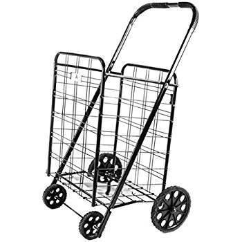 350x350 Ath Large Deluxe Rolling Utility Shopping Cart