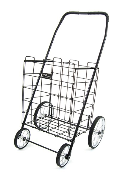 430x587 Easy Wheels Shopping Cart Mitey, Black Home Amp Kitchen