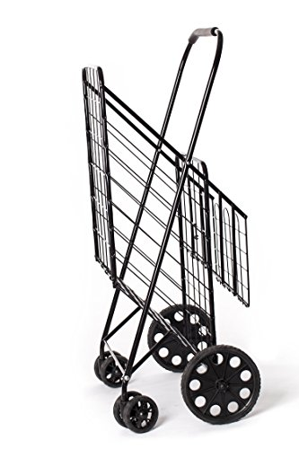 333x500 Jumbo Size Folding Shopping Cart With Double Baskets