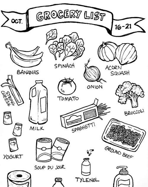 500x630 Gathered Heart Groceries An Illustrated List