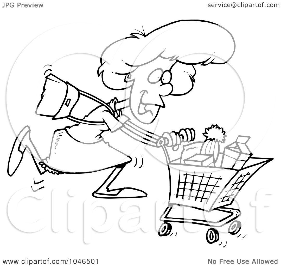 1080x1024 Grocery Shopping Clip Art