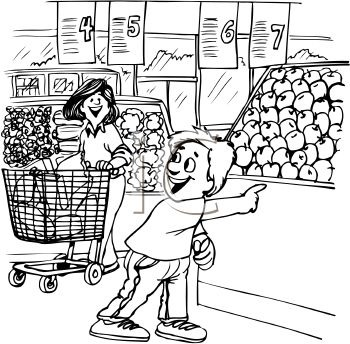 350x344 Grocery Store Clipart Black And White Letters Format