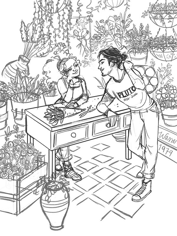 600x800 Persephone's Flower Shop On Behance