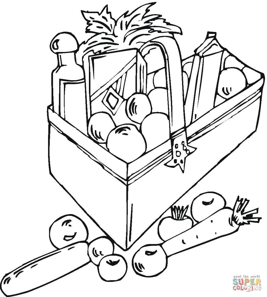 1078x1200 Bag With Vegetables Coloring Page Free Printable Coloring Pages
