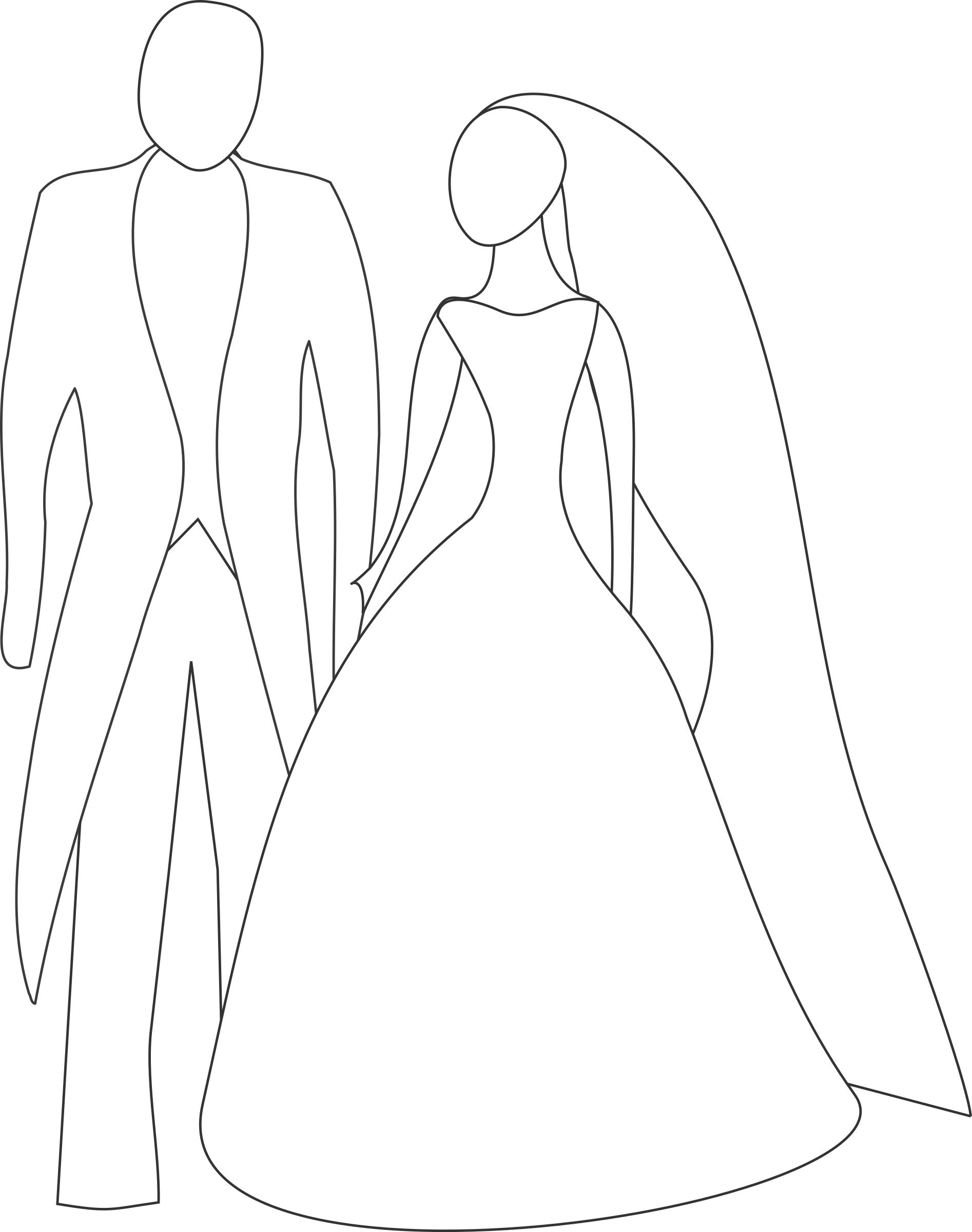 1894x2400 Bride And Groom Icons Png