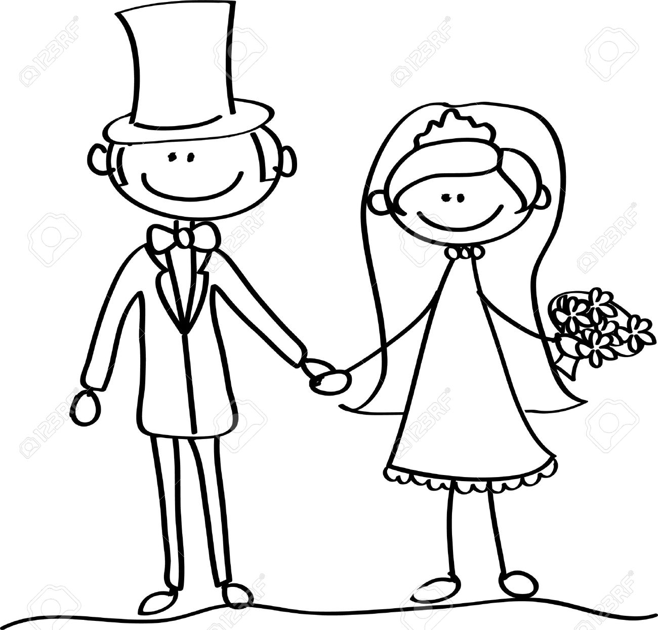 1300x1244 The Bride And Groom At A Wedding Royalty Free Cliparts, Vectors