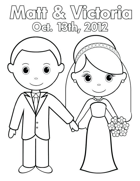 570x738 Bride Coloring Page Princess Bride Coloring Pages Wedding Bride