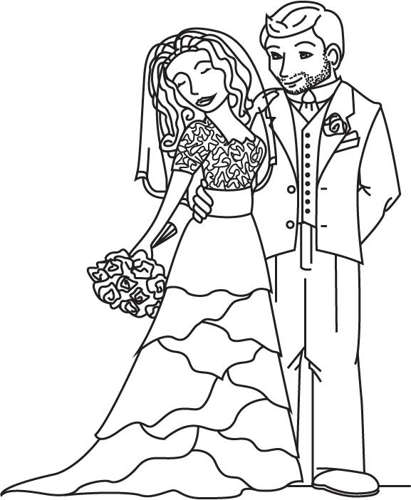 Groom And Bride Drawing at GetDrawings | Free download