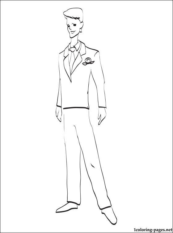 560x750 Groom Coloring Page Coloring Pages