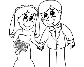 Groom drawing at getdrawings free for personal use groom 340x270 bride and groom coloring pages for tiny draw print printable altavistaventures