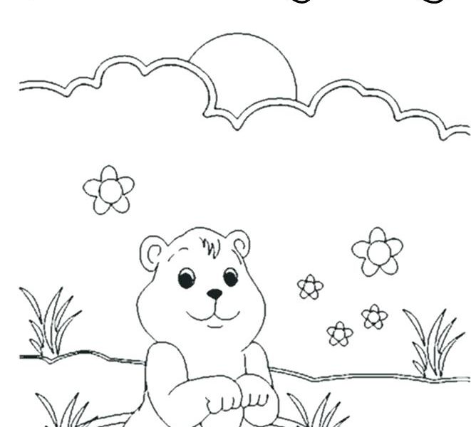 Ground Hog Drawing at GetDrawings.com | Free for personal use Ground ...