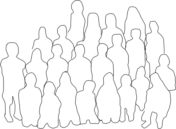 600x441 Group Of People Free Vector In Open Office Drawing Svg ( Svg