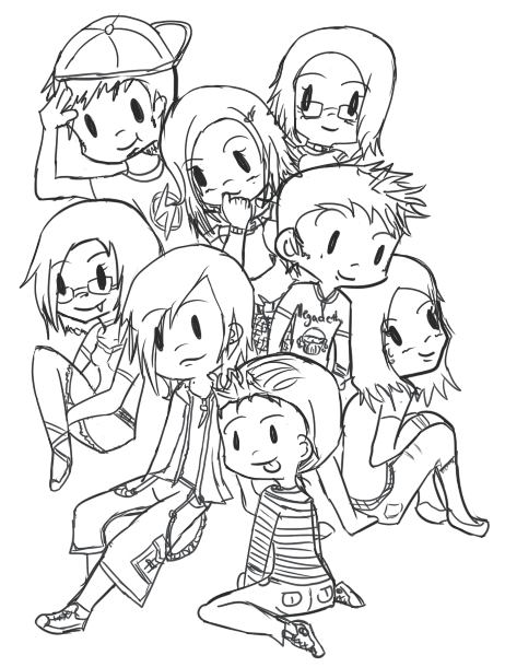462x610 Group Of Friends By Iaerii