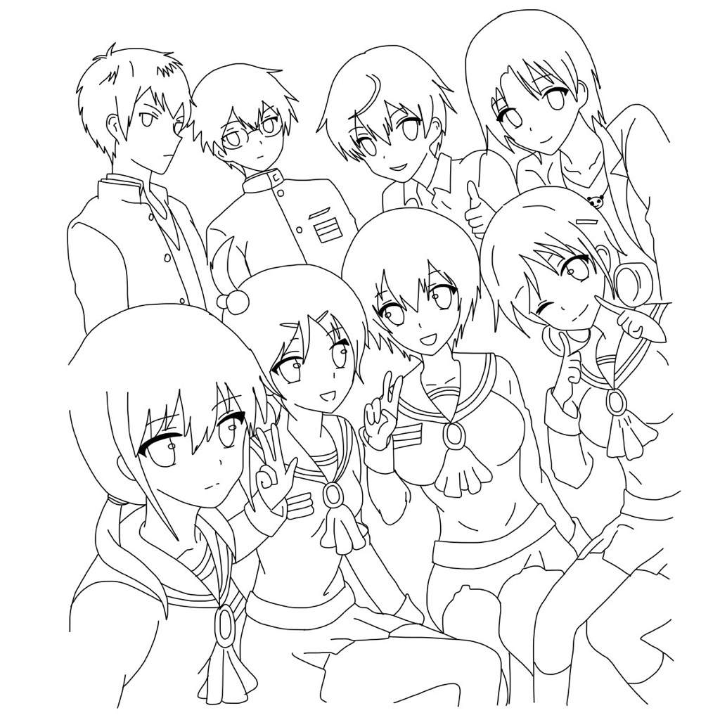 1024x1024 How To Draw The Corpse Party Gang! Anime Amino