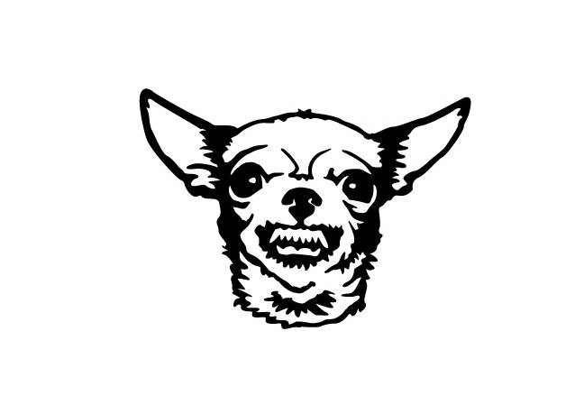 648x459 Growling Chihuahua Vinyl Bumper Sticker. Great For Your