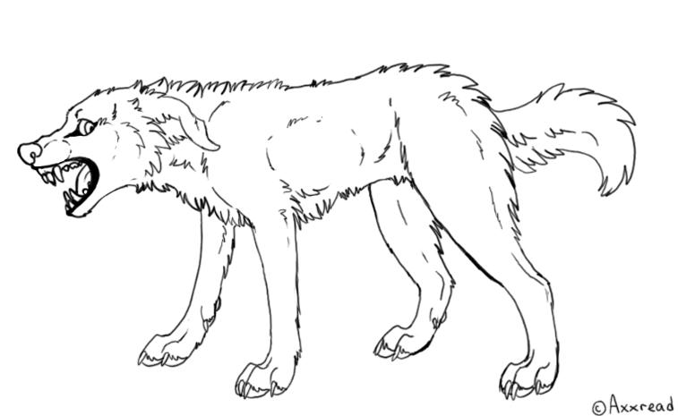 757x465 Growling Dog Drawing