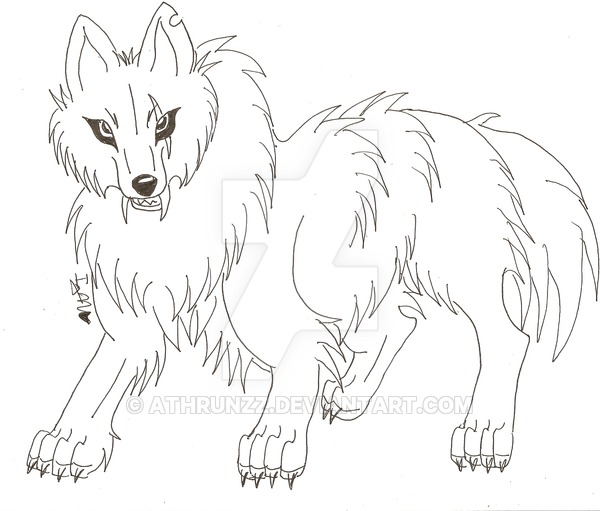 600x511 A Growling Dog Sketch By Athrunzz