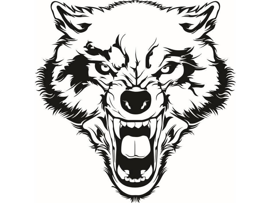 945x708 Wolf 2 Growling Wild Animal Dog Mascot Tattoo Logo Svg Eps
