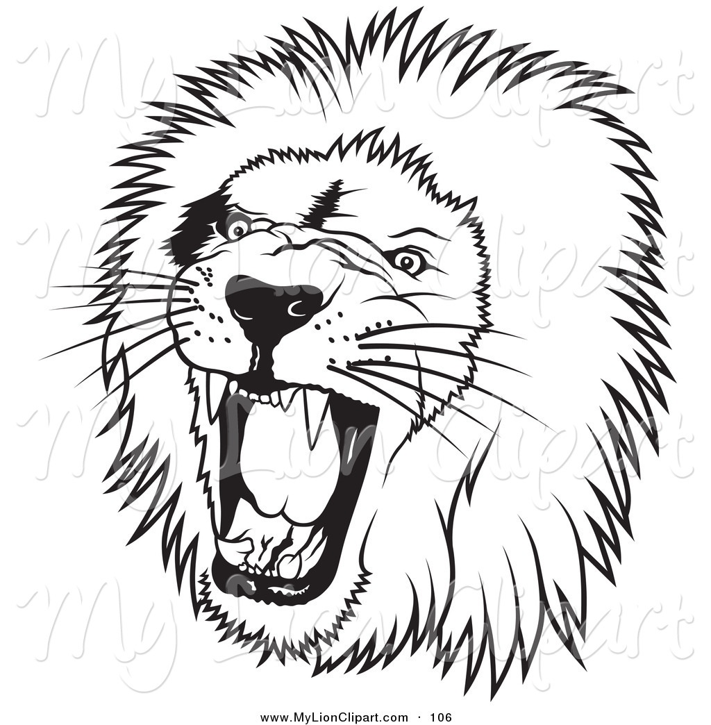 1024x1044 Roaring Lion Clipart Black And White Letters