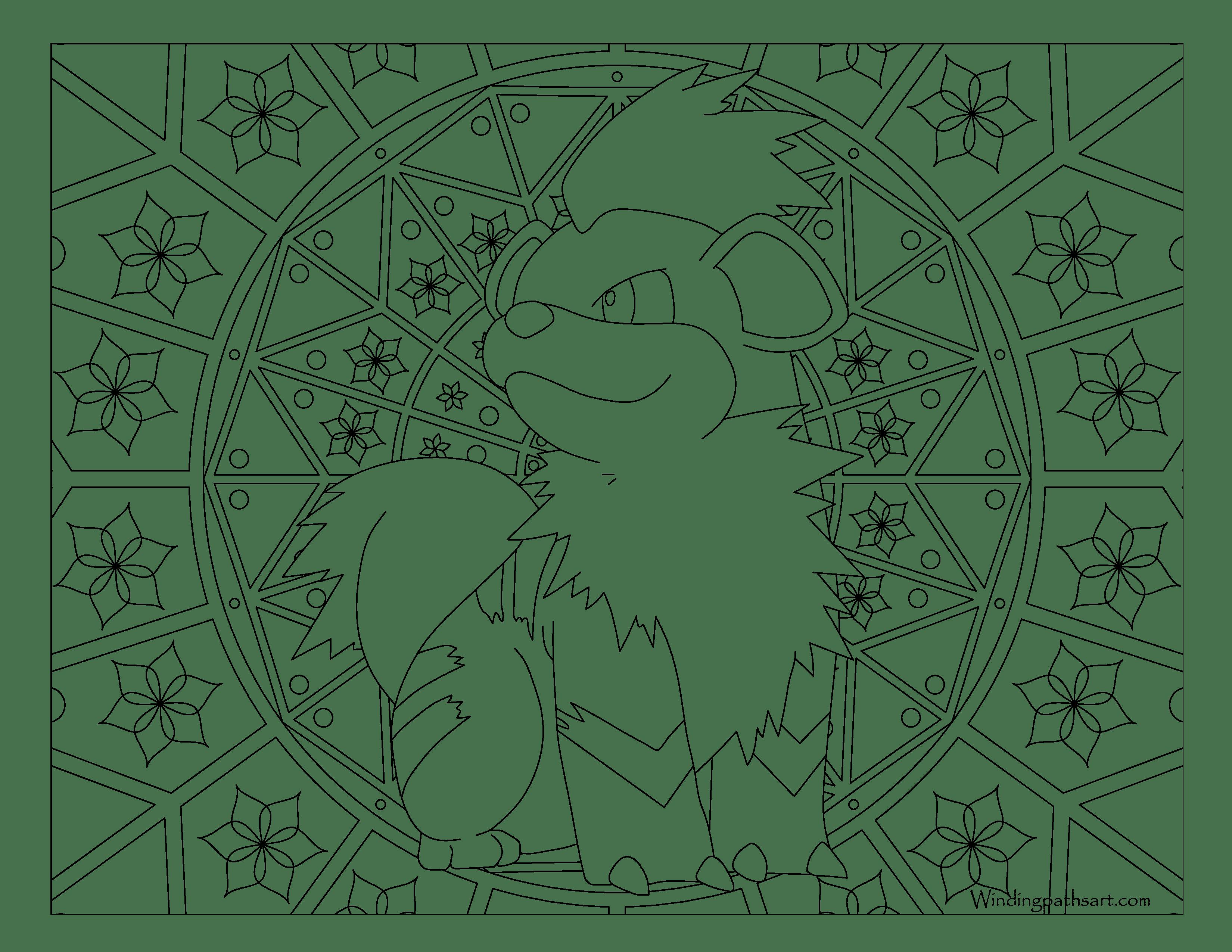 Growlithe Drawing