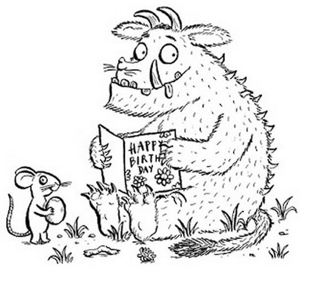X Marks The Spot Coloring Page Gruffalo Drawing at Ge...