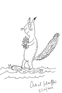 200x300 Celebrities Asked To Sketch A Squirrel For Charity