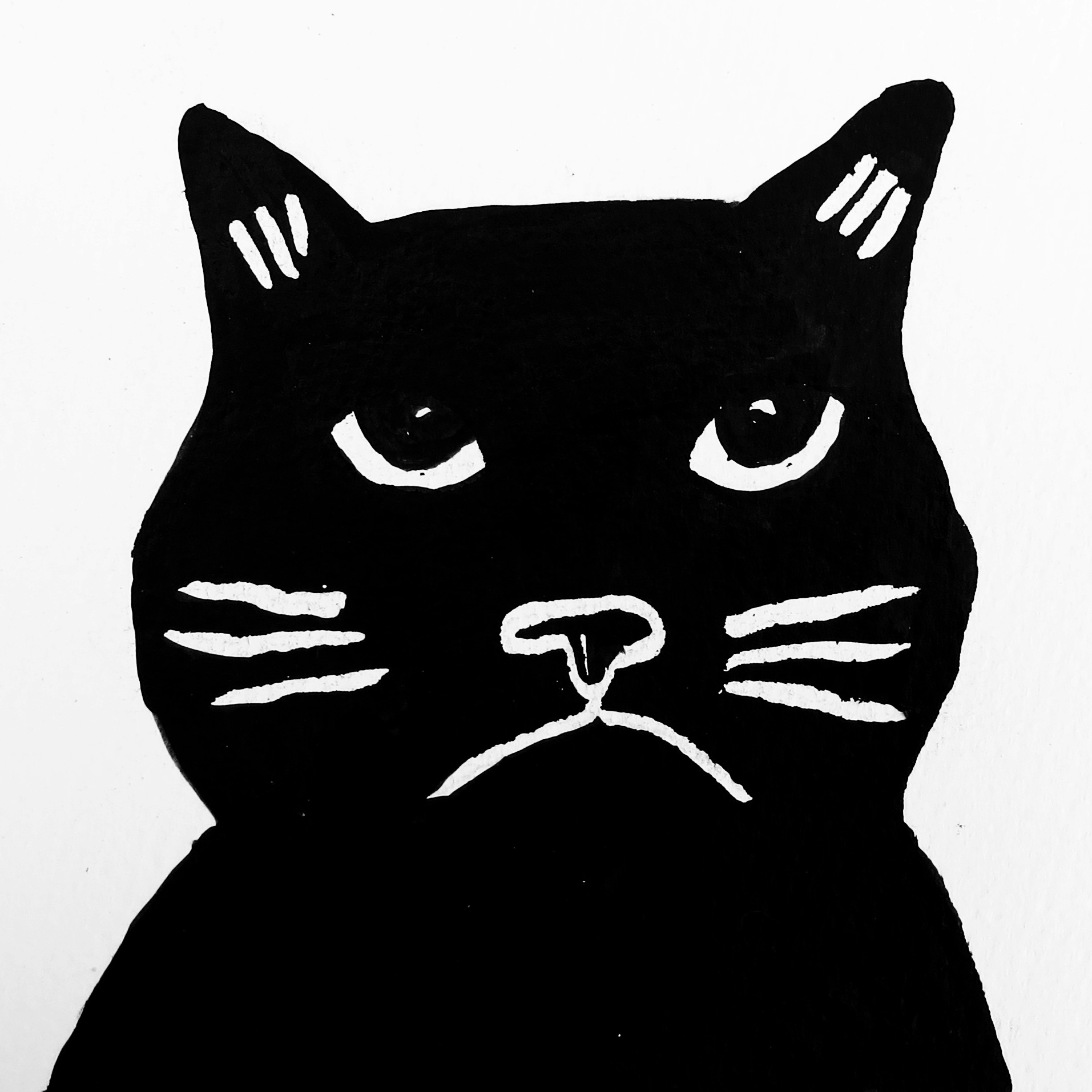 1913x1913 Drawn Card Grumpy Cat