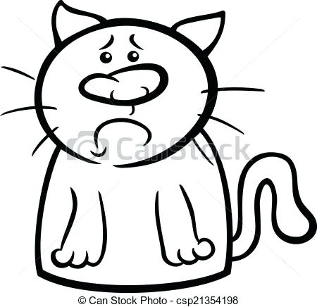450x436 Grumpy Cat Coloring Pages 89 And Sad Cat Cartoon Coloring Page