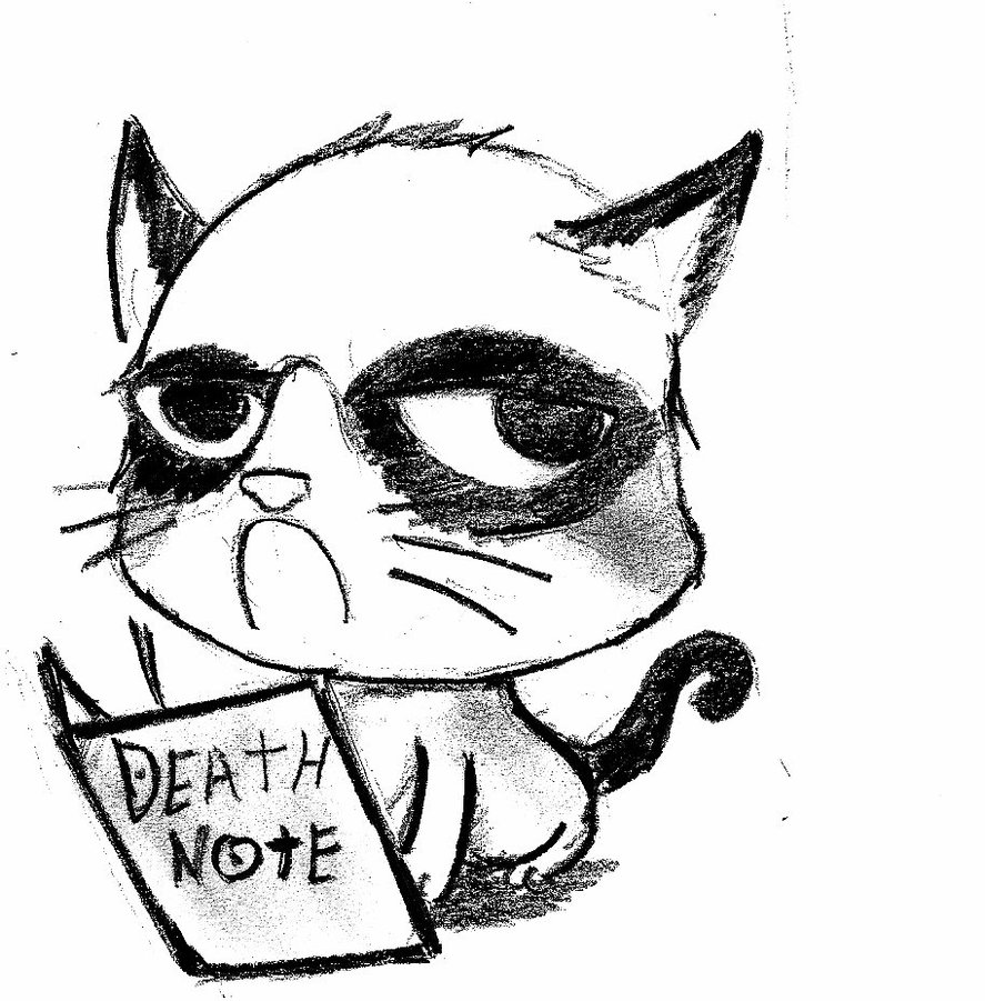 887x901 Grumpy Cat Death Note By Mrnein9