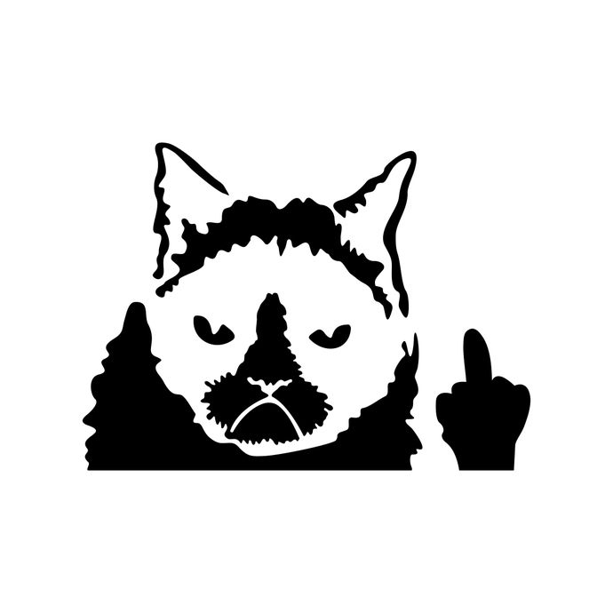 690x690 Grumpy Cat Graphics Design Svg Dxf Png Vector By Vectordesign
