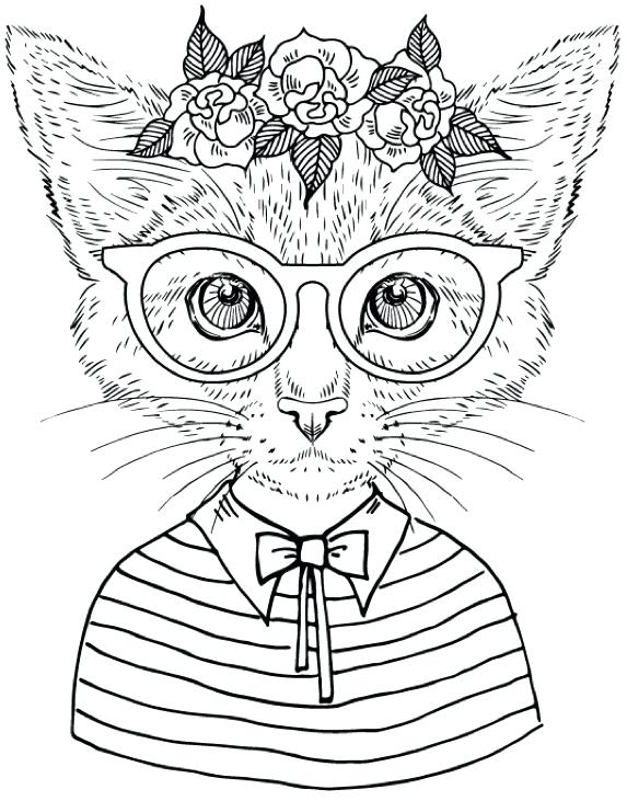 573x731 Grumpy Cat Coloring Pages 93 In Addition To Free Grumpy Cat