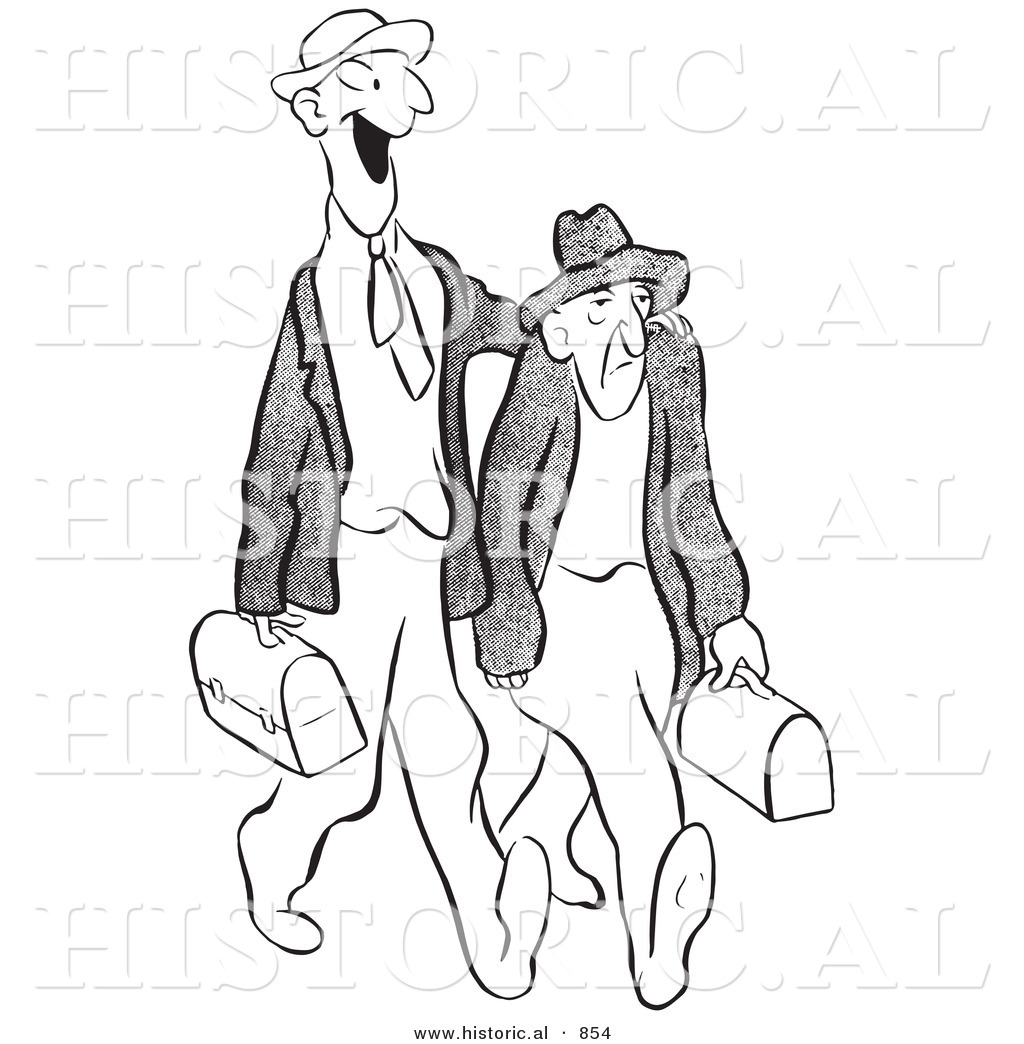 1024x1044 Historical Vector Illustration Of A Cartoon Male Worker Trying