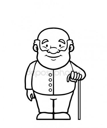 375x450 Old Man Standing Stock Vectors, Royalty Free Old Man Standing